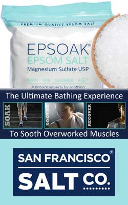 San Francisco Bath Salt Company Espsoak Epsom Salt Sports Injury Quick Recovery